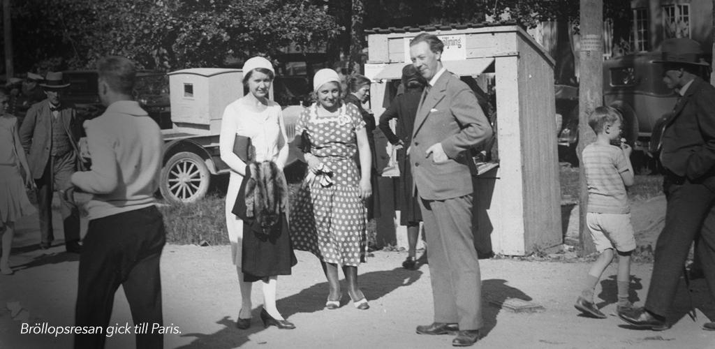 Alf Henrikson bröllopsresa
